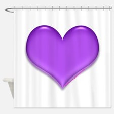 purple heart Shower Curtain