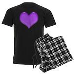 purple heart Men's Dark Pajamas