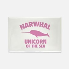 Narwhale Unicorn of the Sea Rectangle Magnet