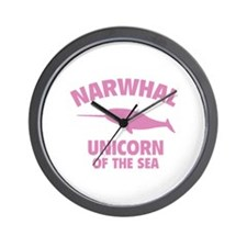 Narwhale Unicorn of the Sea Wall Clock
