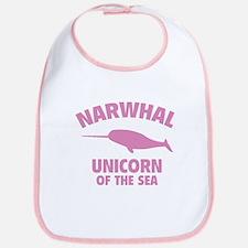 Narwhale Unicorn of the Sea Bib