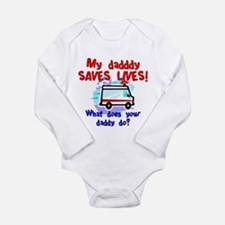 daddy saves lives ambulance Body Suit