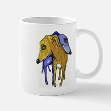 two greyhounds Mug