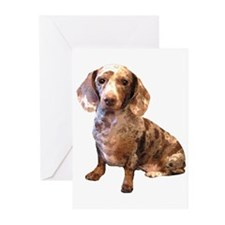 Spotty Dachshund Dog Greeting Cards (Pk of 10
