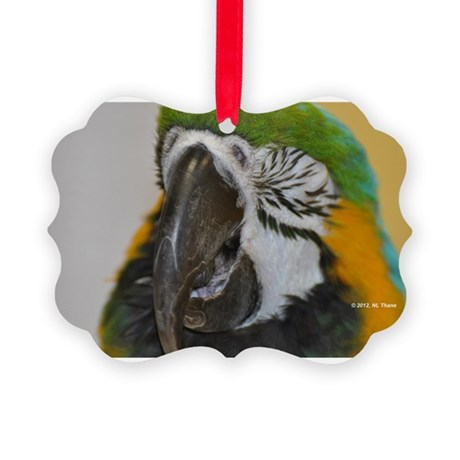 Laughing Parrot Picture Ornament