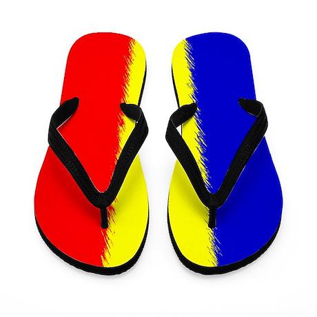 Romanian Flag Flip Flops Flip Flops