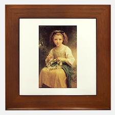 Daisy Crown Framed Tile
