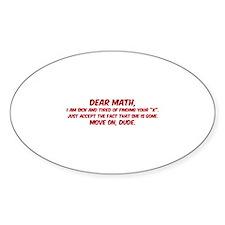 Dear Math Decal