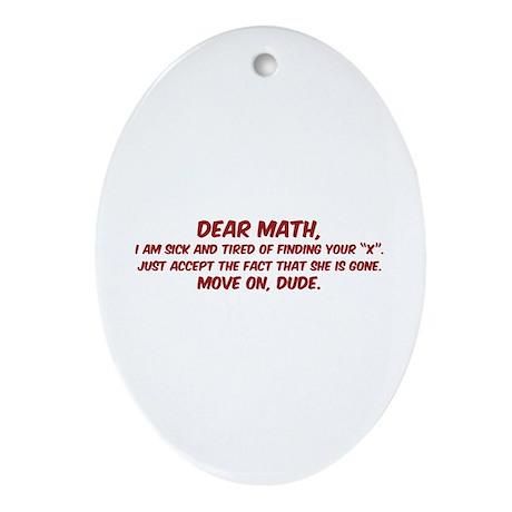 Dear Math Ornament (Oval)