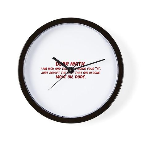 Dear Math Wall Clock