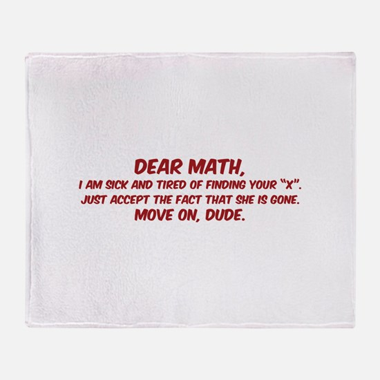 Dear Math Throw Blanket
