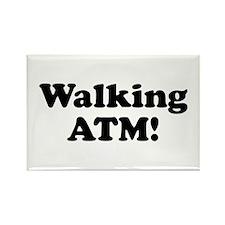 Walking ATM! Rectangle Magnet