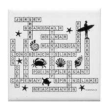 JERSEY SHORE SCRABBLE-STYLE Tile Coaster