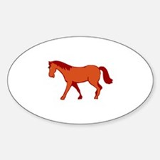 Horse Pumpkins Decal