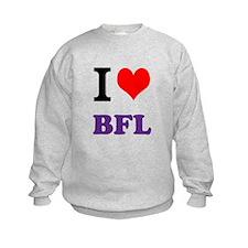 I love Budget Food Lady Sweatshirt