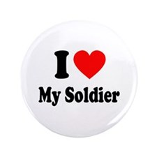 """I Heart My Soldier: 3.5"""" Button"""