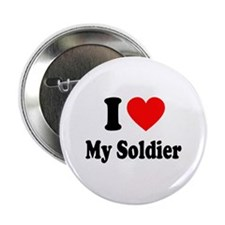 """I Heart My Soldier: 2.25"""" Button"""