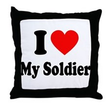 I Heart My Soldier: Throw Pillow