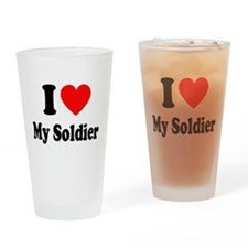 I Heart My Soldier: Drinking Glass