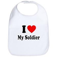 I Heart My Soldier: Bib