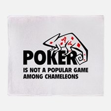 Poker Chameleons Throw Blanket