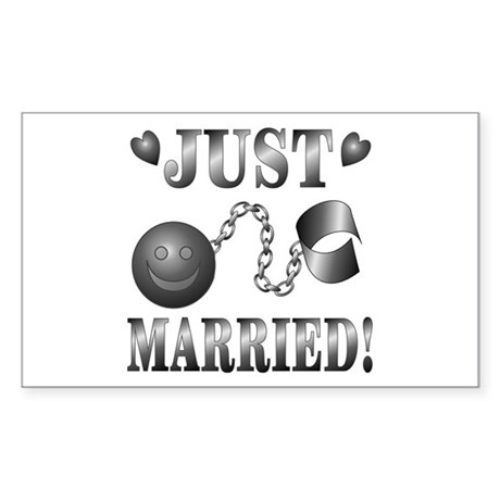 Just Married Rectangle Sticker
