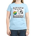 Just Married Women's Pink T-Shirt