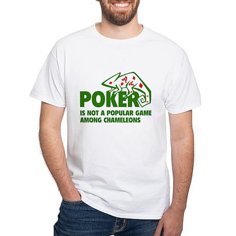 Poker Chameleons White T-Shirt