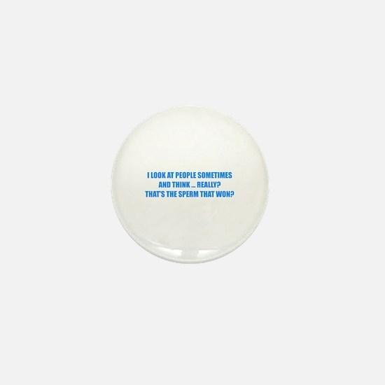 Sperm That Won Mini Button