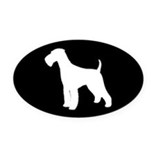 Airedale Terrier Oval Car Magnet