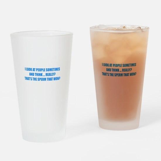 Sperm That Won Drinking Glass