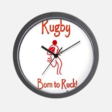 Rugby Born to Ruck 6000 Wall Clock