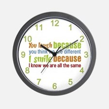 You Laugh, I Smile Wall Clock
