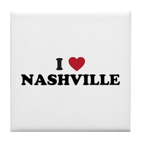 I Love Nashville Tennessee Tile Coaster
