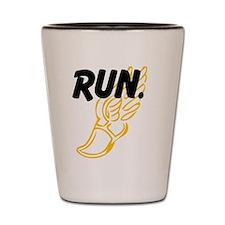 Run. Shot Glass