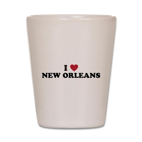 I Love New Orleans Louisiana Shot Glass