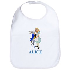 Alice and the White Rabbit Bib