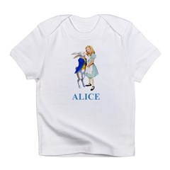 Alice and the White Rabbit Infant T-Shirt