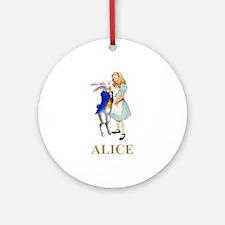 Alice and the White Rabbit Ornament (Round)