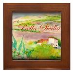 Bella Sicilia Framed Tile