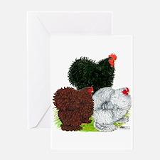 Frizzle Cochin Trio Greeting Card