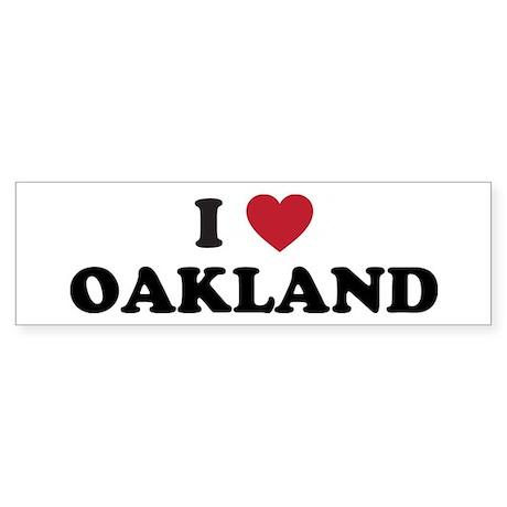 I Love Oakland California Sticker (Bumper)