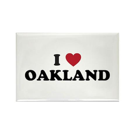 I Love Oakland California Rectangle Magnet