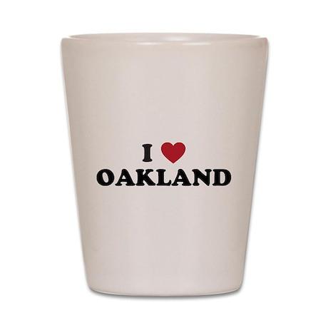 I Love Oakland California Shot Glass