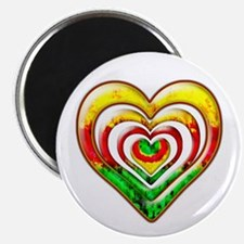 One Love Hearts Magnet