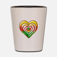 One Love Hearts Shot Glass