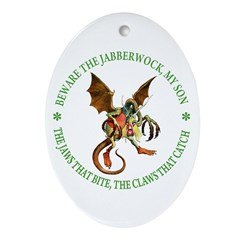 Beware the Jabberwock My Son Ornament (Oval)