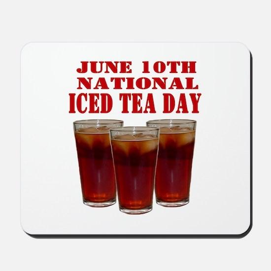 National Iced Tea Day Mousepad