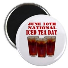 "National Iced Tea Day 2.25"" Magnet (10 pack)"