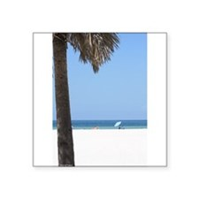 """Clearwater Beach day Square Sticker 3"""" x 3"""""""